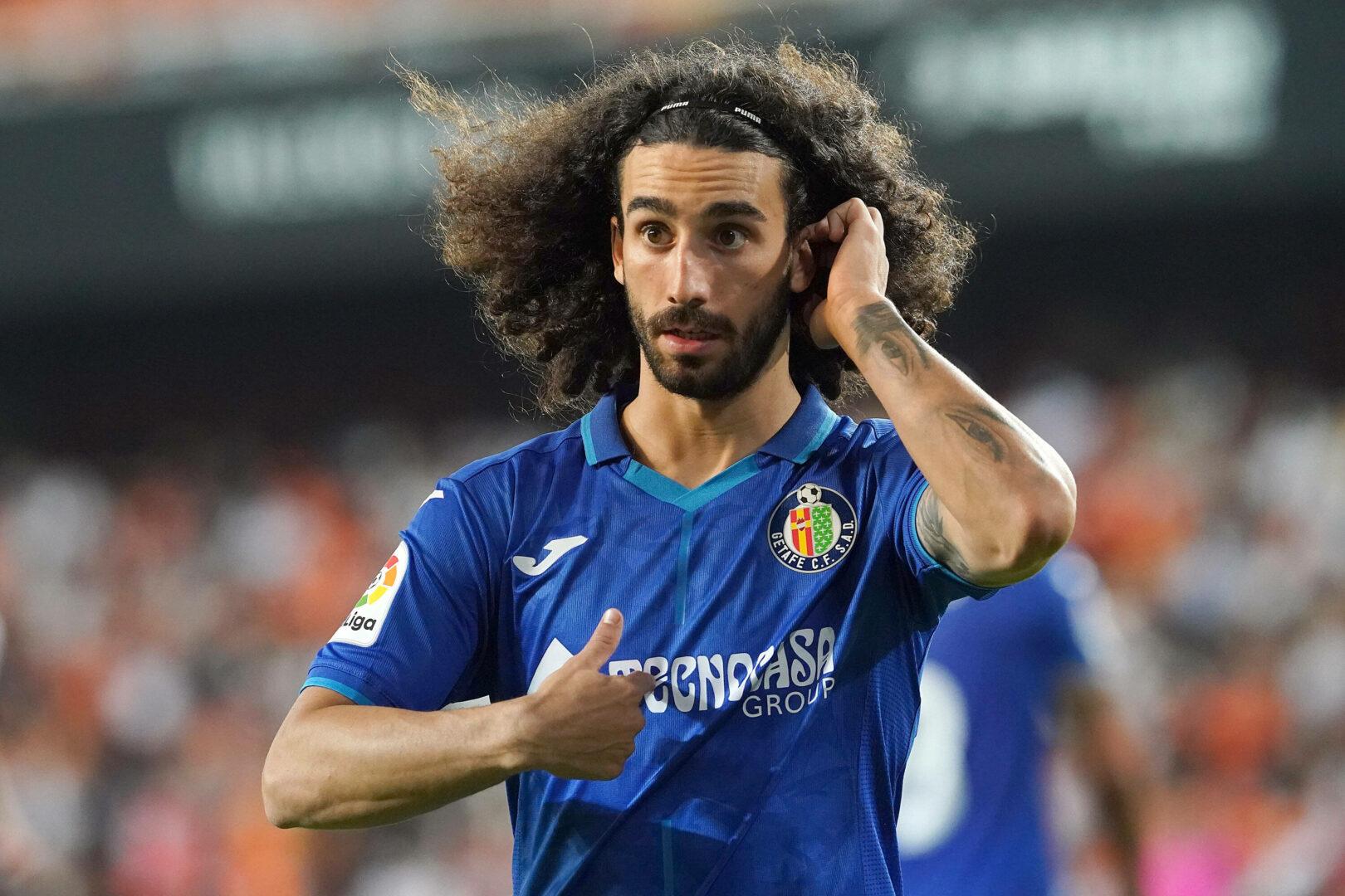 Marc Cucurella lief am ersten Spieltag noch mit wehender Mähne für den FC Getafe in Valencia auf.