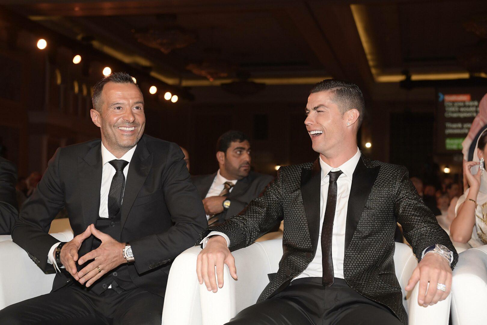 Cristiano Ronaldo (Juventus) Anwalt Jorge Mendes bei Preisverleihung