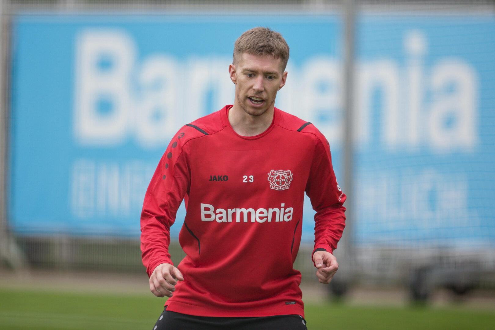 Mitchell Weiser trägt nur noch im Training die Klamotten von Bayer 04 Leverkusen.