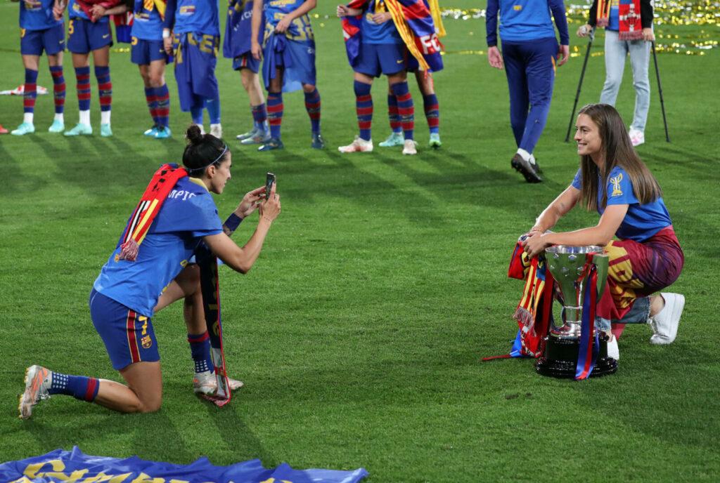 Jennifer Hermoso und Alexia Putellas vom FC Barcelona