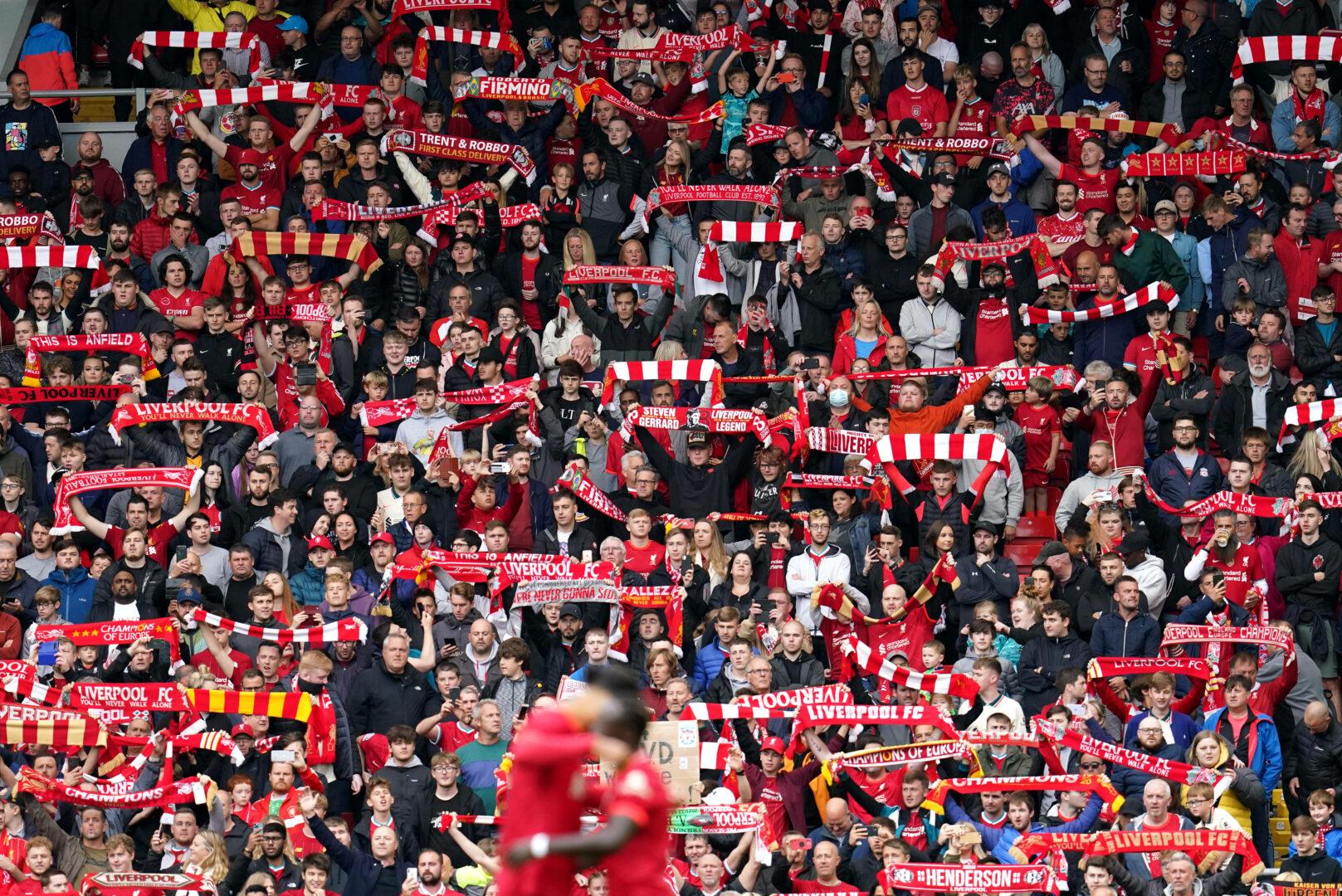Die Fans des FC Liverpool