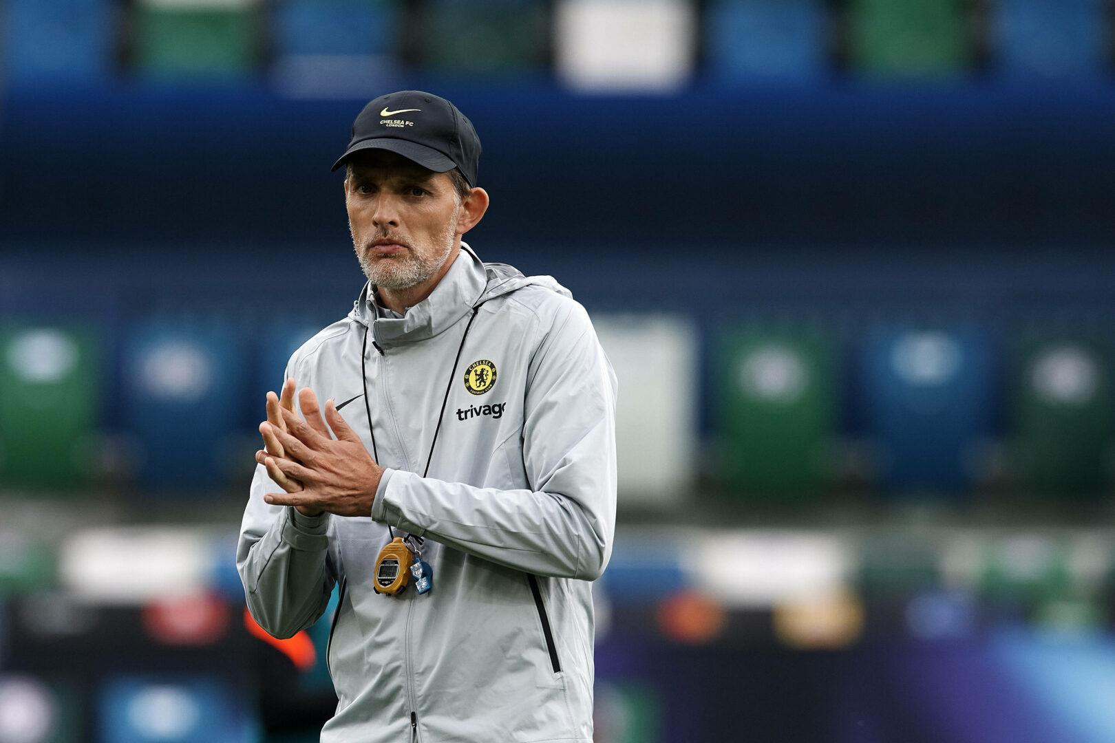 Chelsea-Trainer Thomas Tuchel in Aktion während einer Trainingseinheit.