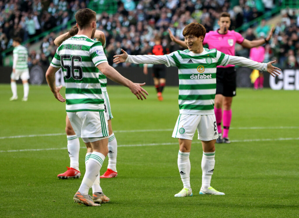Furuhashi (Celtic) bejubelt Treffer gegen Jablonec