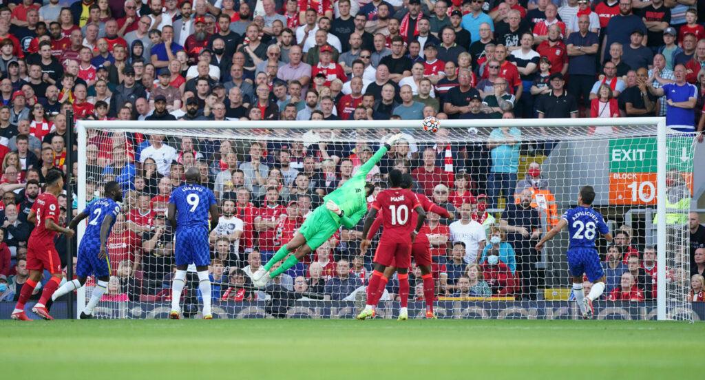 Chelsea vs Liverpool Ecke Havertz Tor