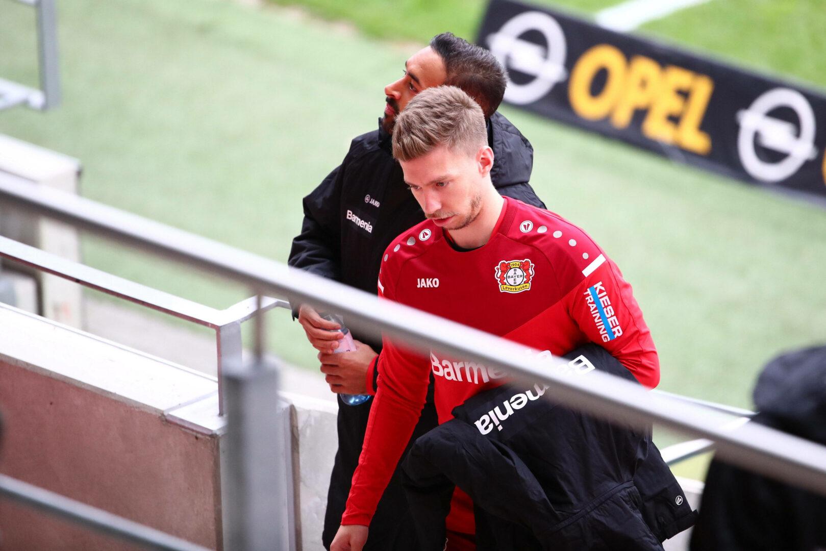 Weiser vor Wechsel nach Bremen, hier noch im Dress von Bayer 04