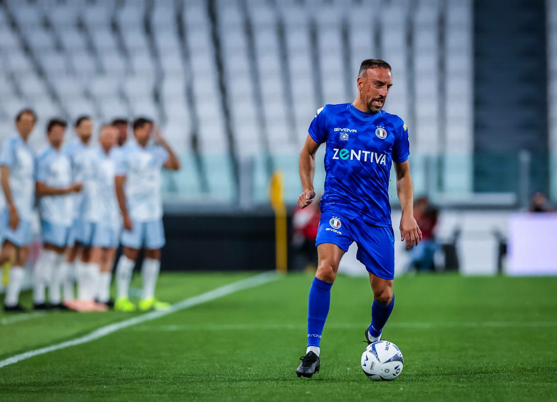 Franck Ribéry während eines Benefizspiels.