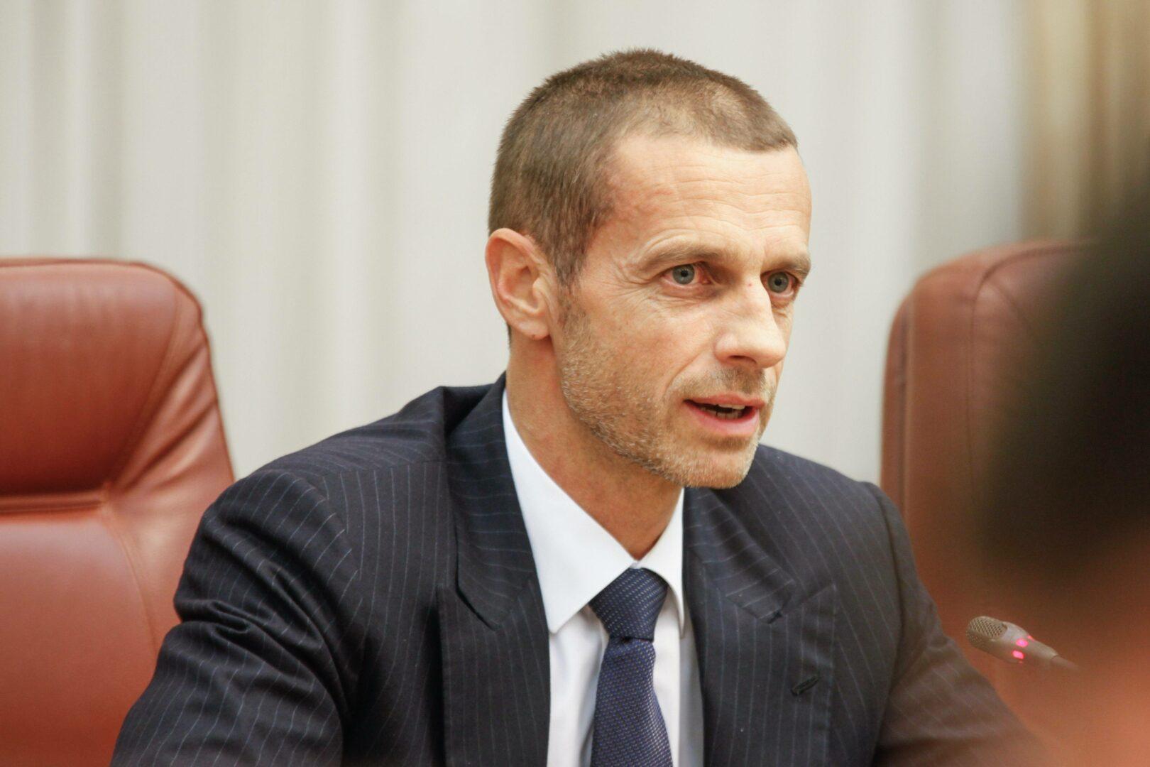 Alexander Ceferin auf einer Sitzung.