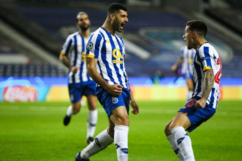 Mehdi Taremi (FC Porto) bejubelt Tor in Champions League gegen Juve