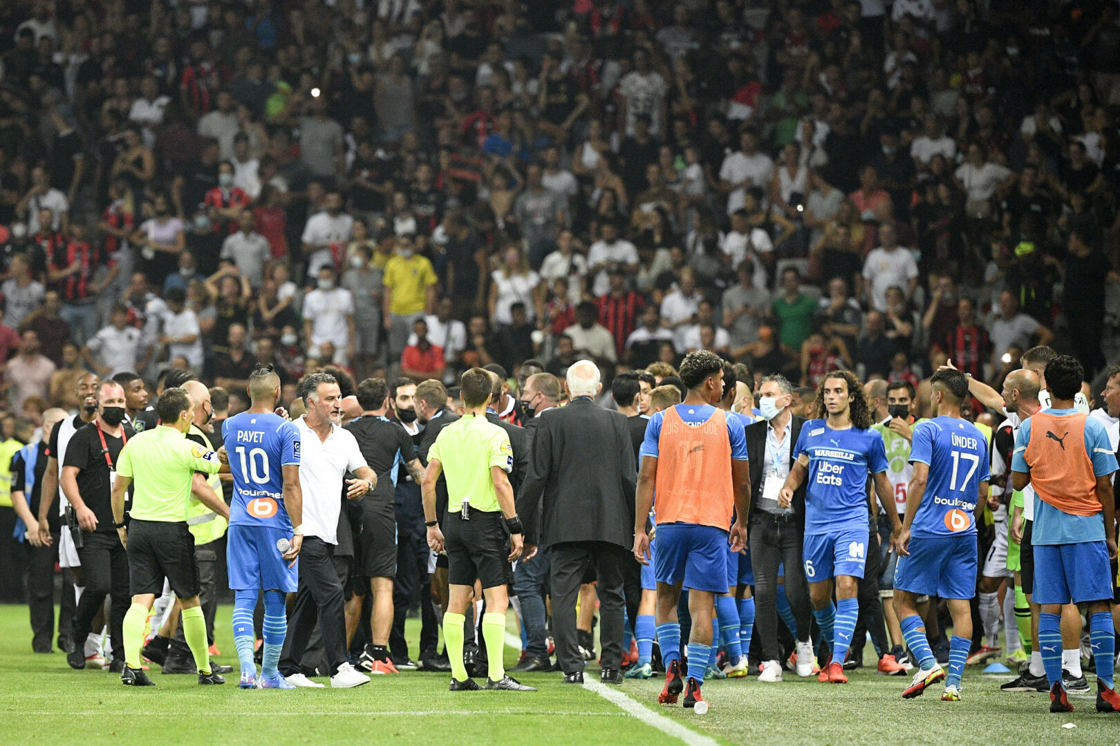 Marseille vs. Nizza Spieler von OM