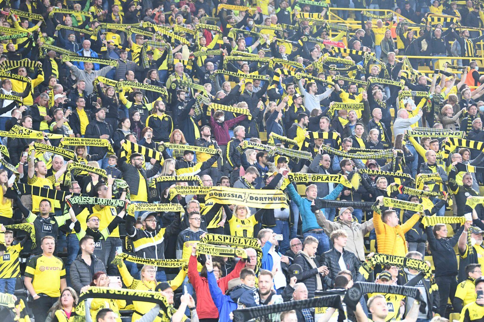 Die Fans von Borussia Dortmund im Heimspiel gegen Hoffenheim.