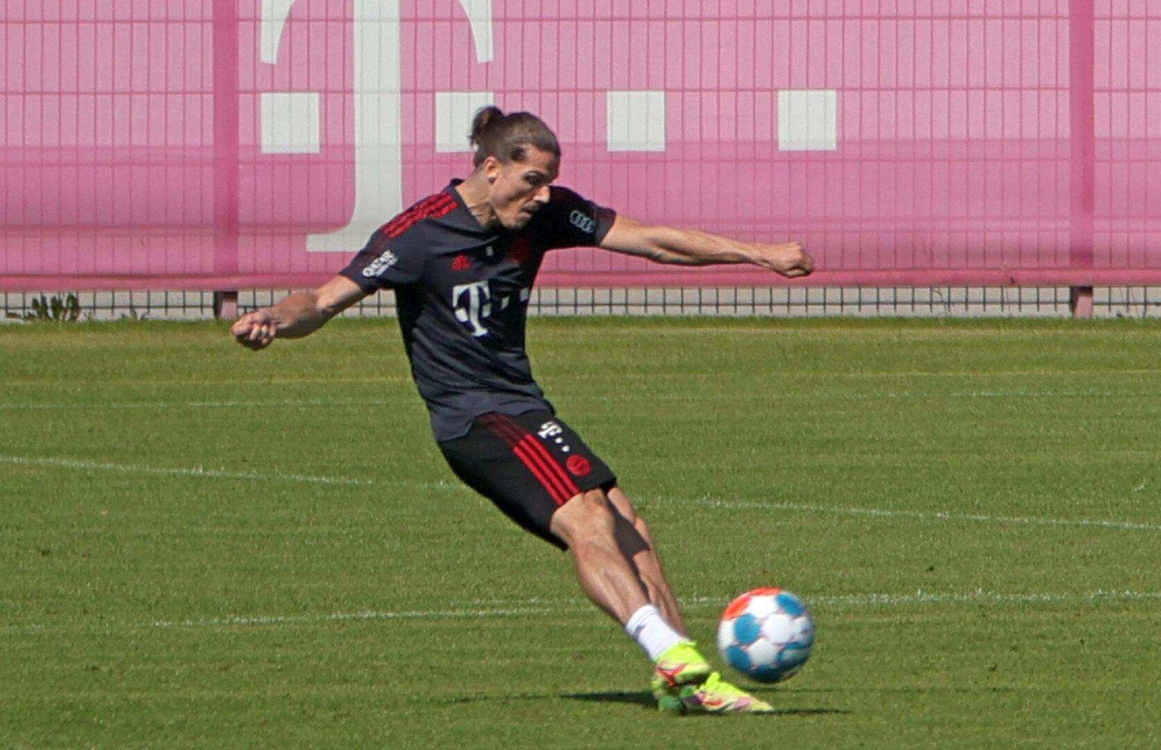 Marcel Sabitzer während einer Trainingseinheit beim FC Bayern.