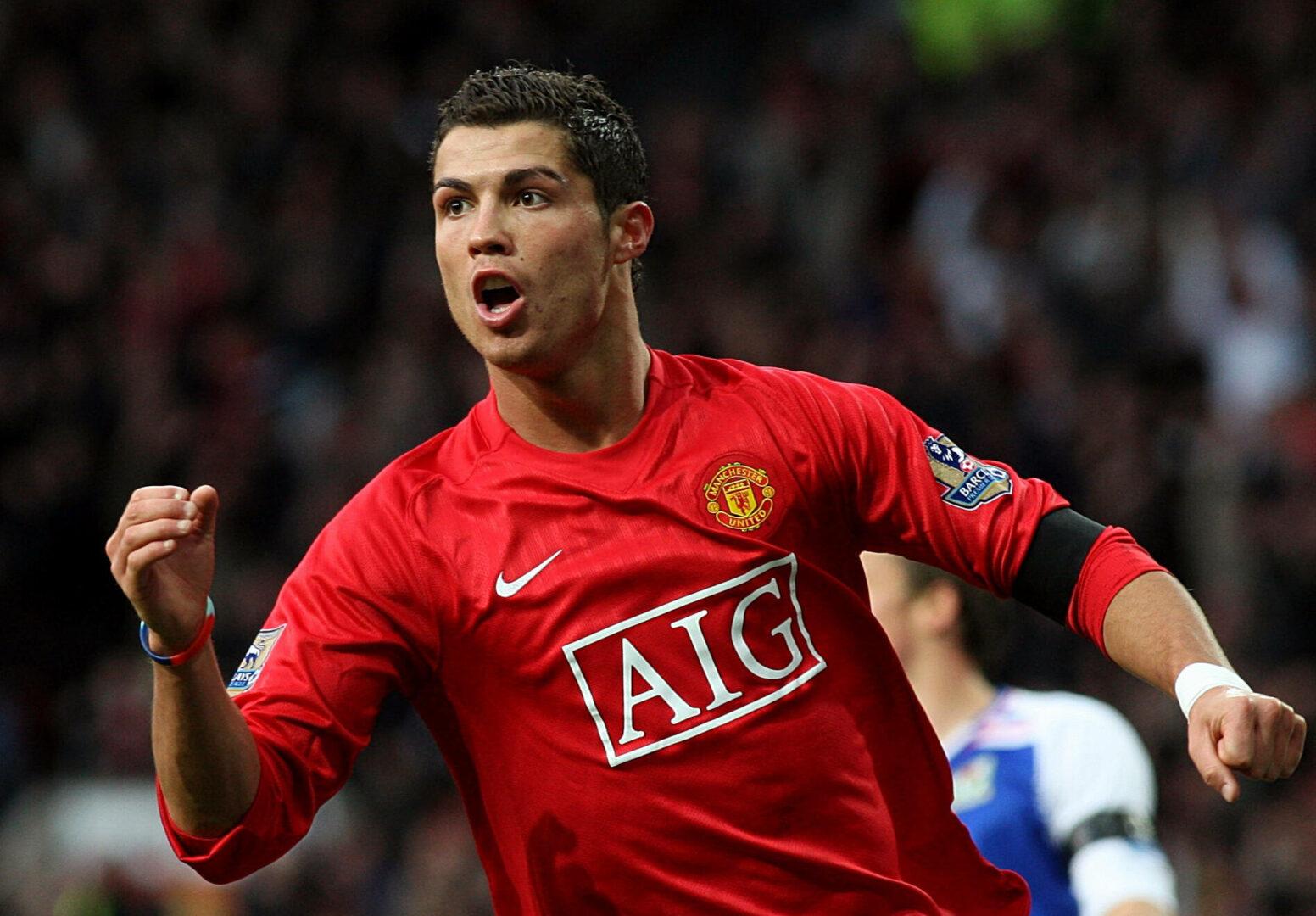 Cristiano Ronaldo während seiner ersten zeit bei Manchester United.