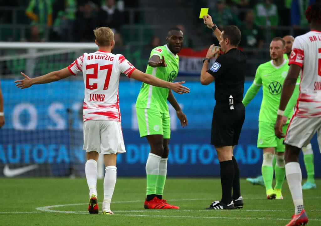 Leipzig im Spiel gegen Wolfsburg