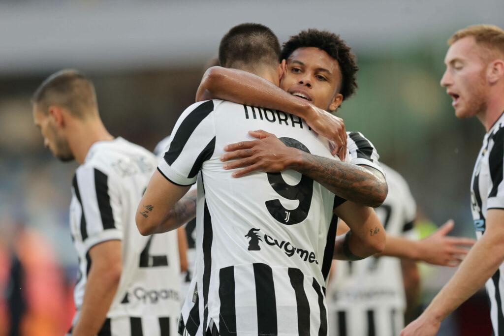 Morata erzielt das 1:0 für Juventus gegen Neapel