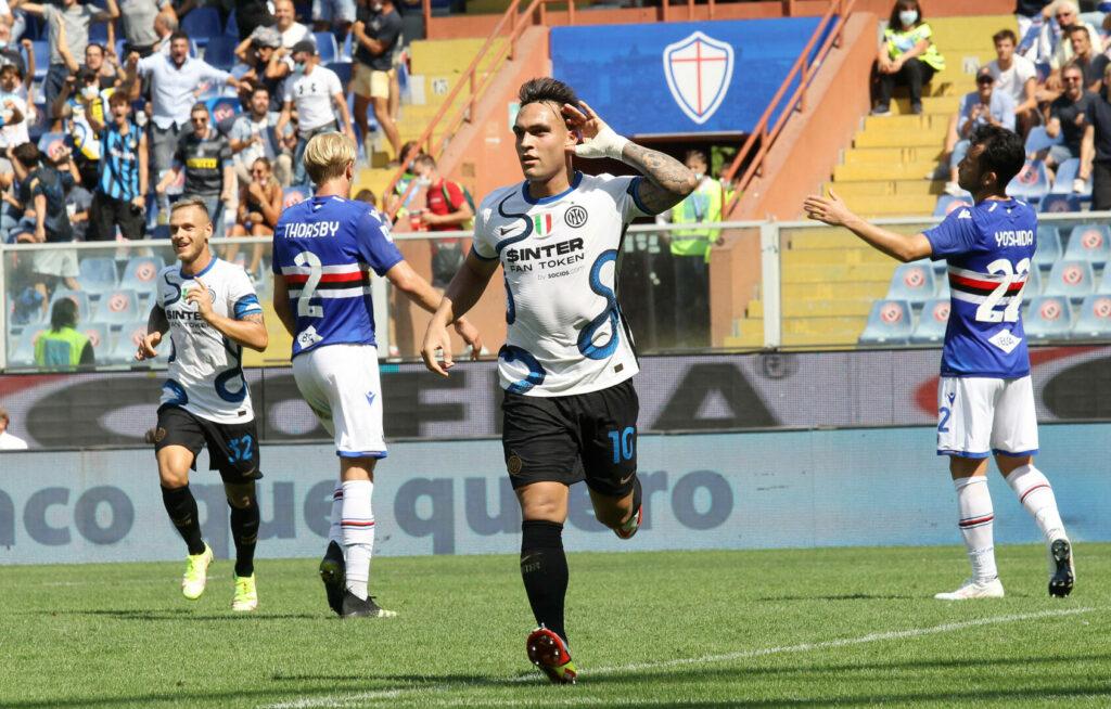 Lautaro Martinez von Inter jubelt über seinen Treffer