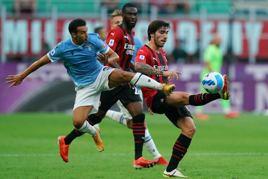 Umkämpftes Spiel zwischen Milan und Lazio