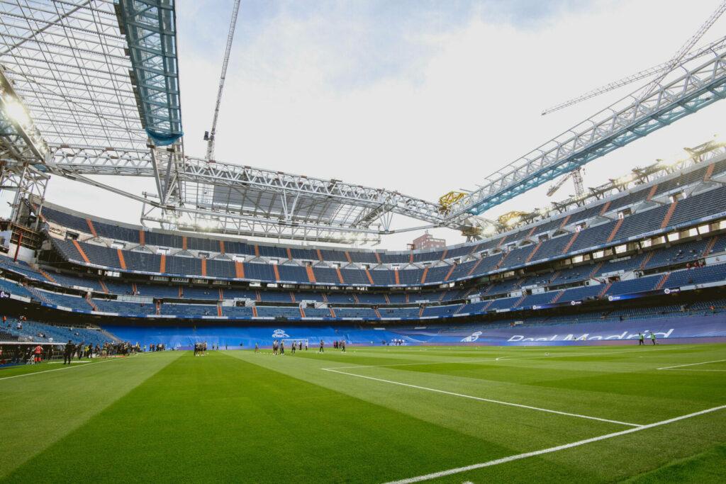 Das Estadio Santiago Bernabéu befindet sich weiterhin im Umbau.