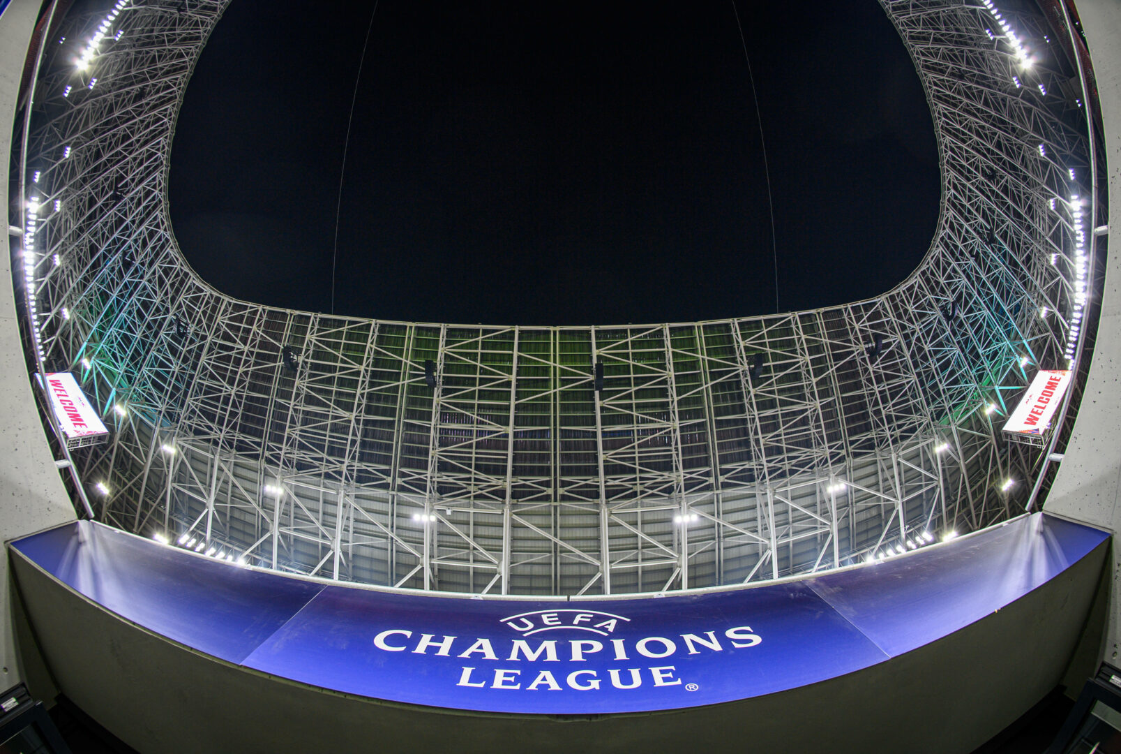 Champions League Logo im Stadion