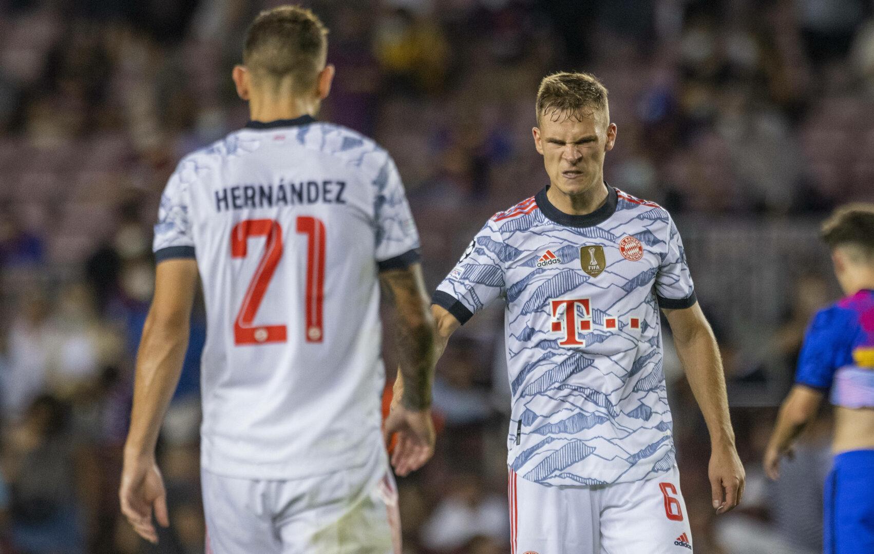 Kimmich, Hernández (beide FC Bayern) bejubeln Sieg