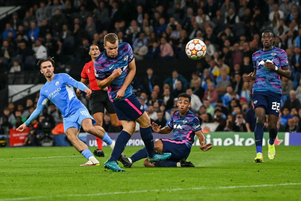Jack Grealish mit dem Tor für Manchester City gegen RB Leipzig
