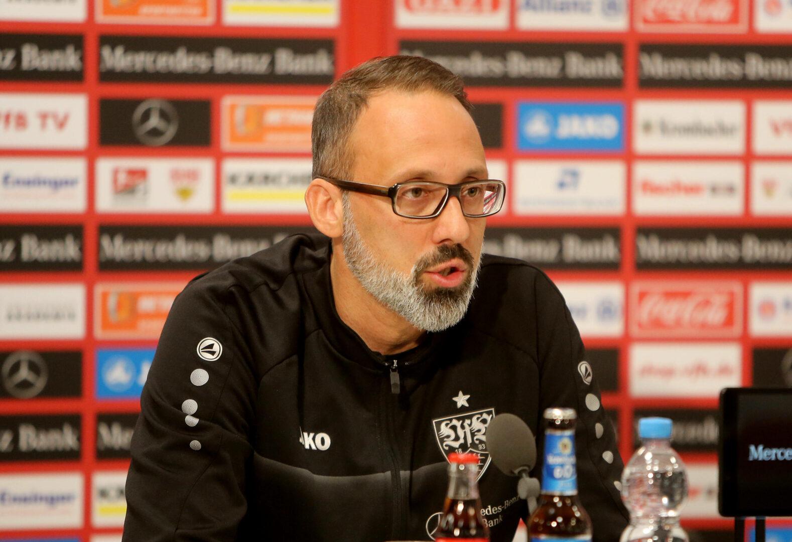 Pellegrino Matarazzo äußerte sich auf der Pressekonferenz zum Abschied von Thomas Hitzlsperger