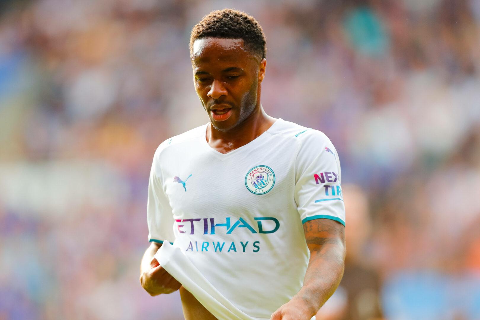 Raheem Sterling beim Auswärtsspiel von Manchester City in Leicester.