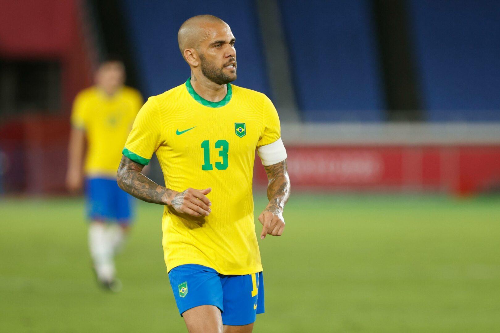 Dani Alves (Brasilien) während Olympia
