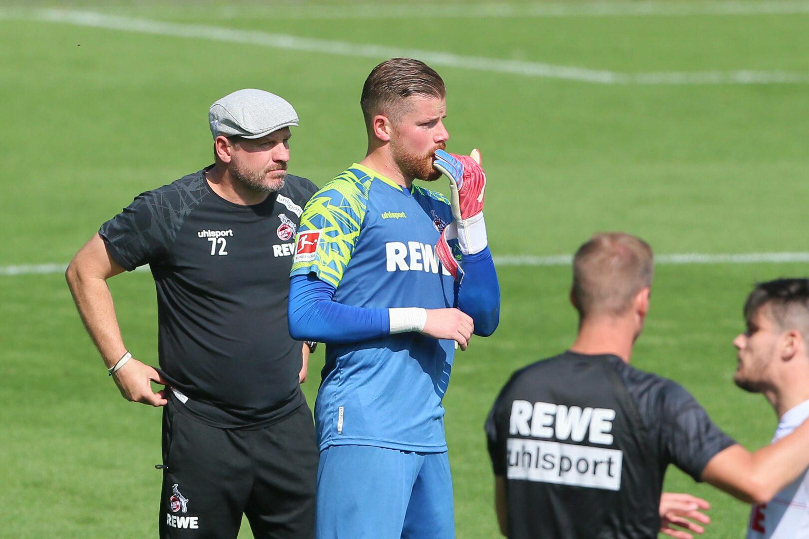 Baumgart, Horn (beide Köln) im Training
