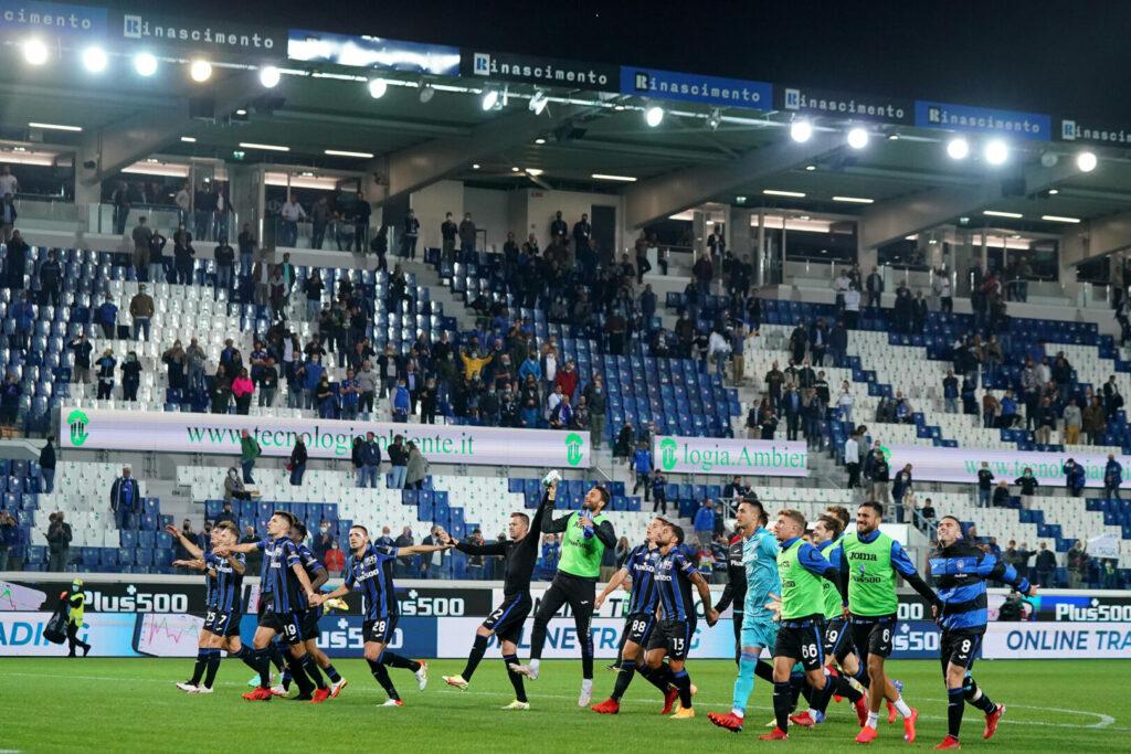 Atalanta Team Jubel nach Sieg in Serie A
