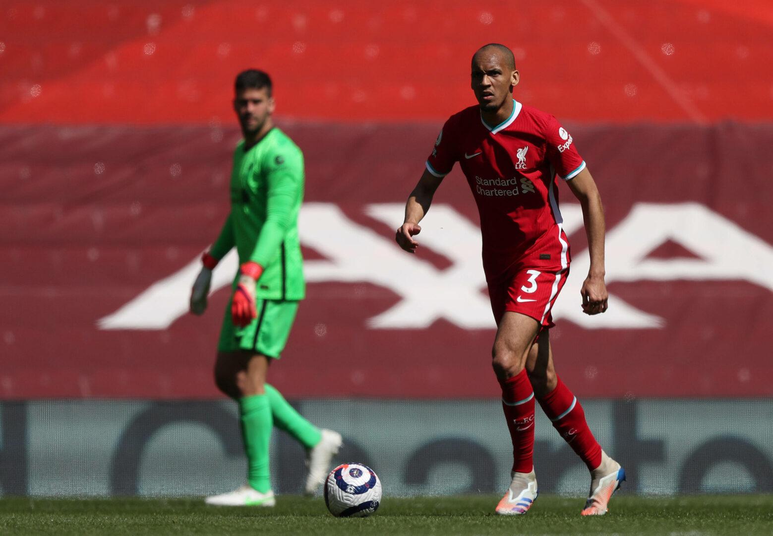 Fabinho und Alisson Becker im Einsatz für den FC Liverpool.