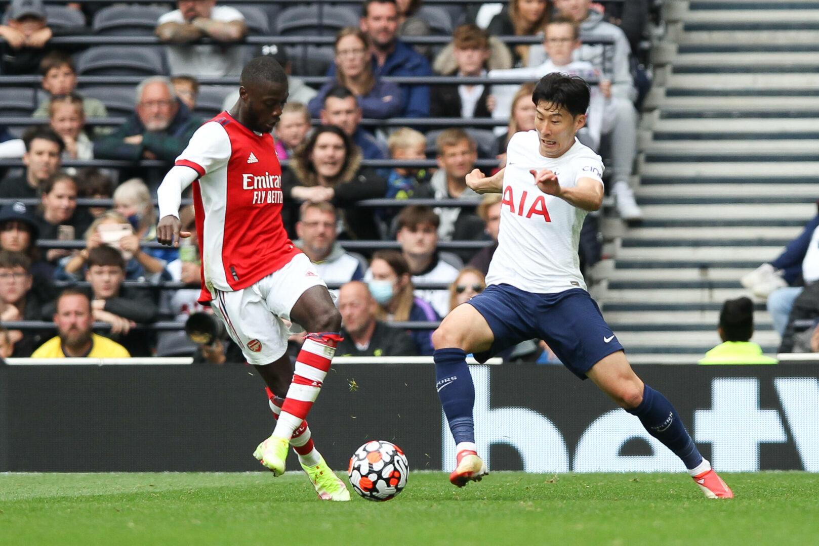 Pépé (Arsenal), Son (Tottenham) im Zweikampf