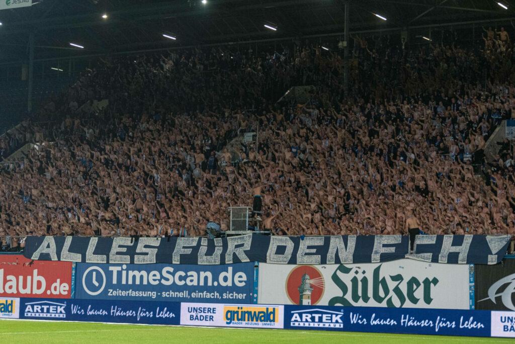 Die Anhänger unterstützten den FC Hansa Rostock massiv.