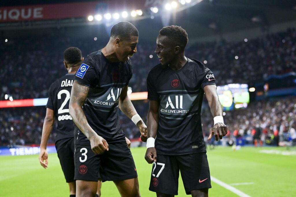 Kimpembe, Gana Gueye (PSG) bejubeln Treffer in der Ligue 1