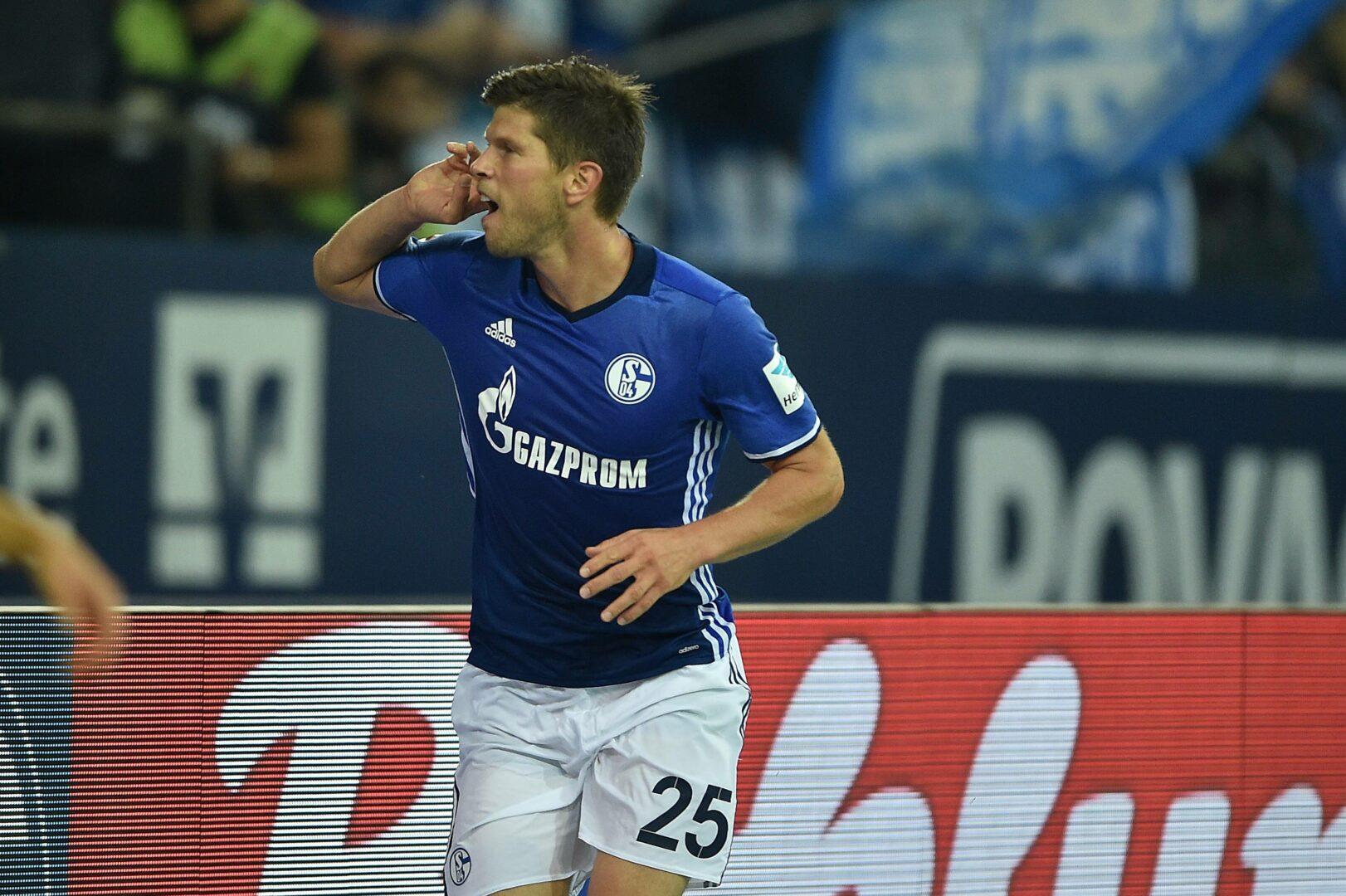Huntelaar (Schalke 04) jubelt