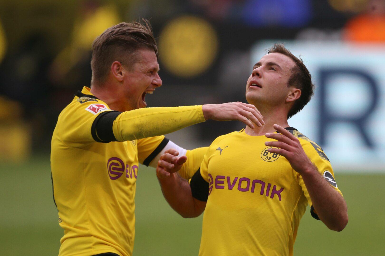 Lukasz Piszczek und Mario Götze im Dress des BVB.