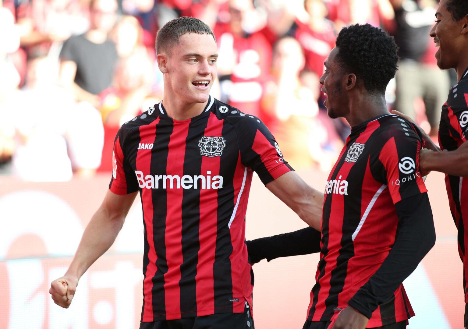 Wirtz (Bayer Leverkusen) bejubelt Treffer gegen Mainz 05