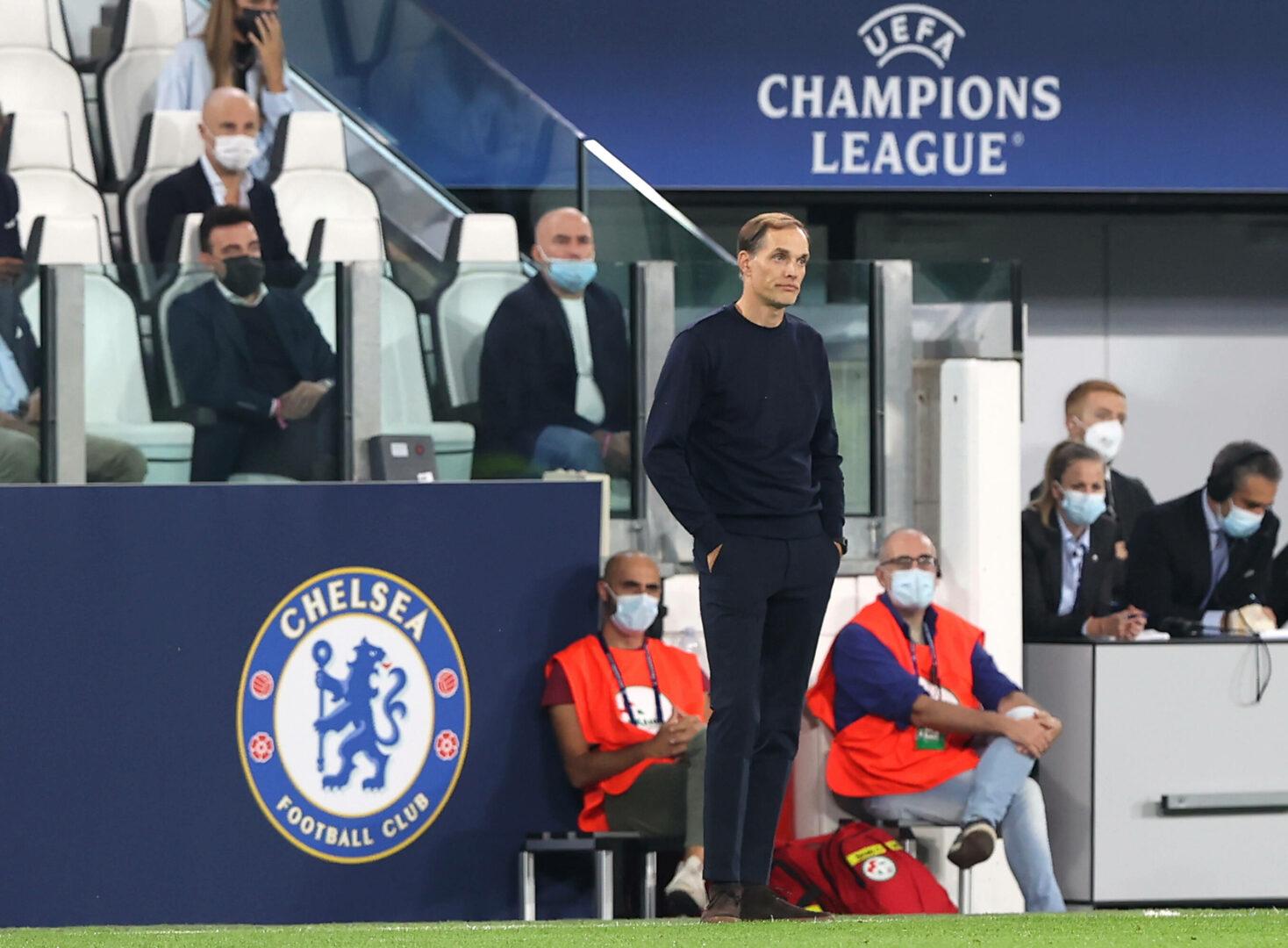 Chelsea-Trainer Thomas Tuchel an der Seitenlinie.