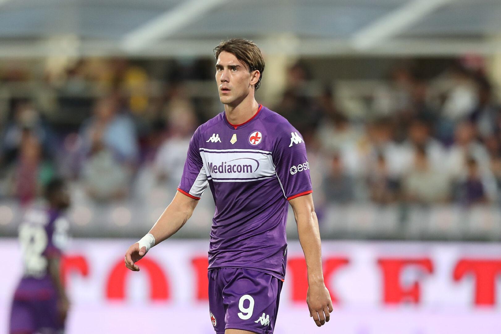 Dusan Vlahovic während des Heimspiels der Fiorentina gegen Napoli.