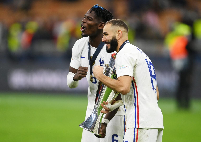 Nations League: Pogba und Benzema feiern
