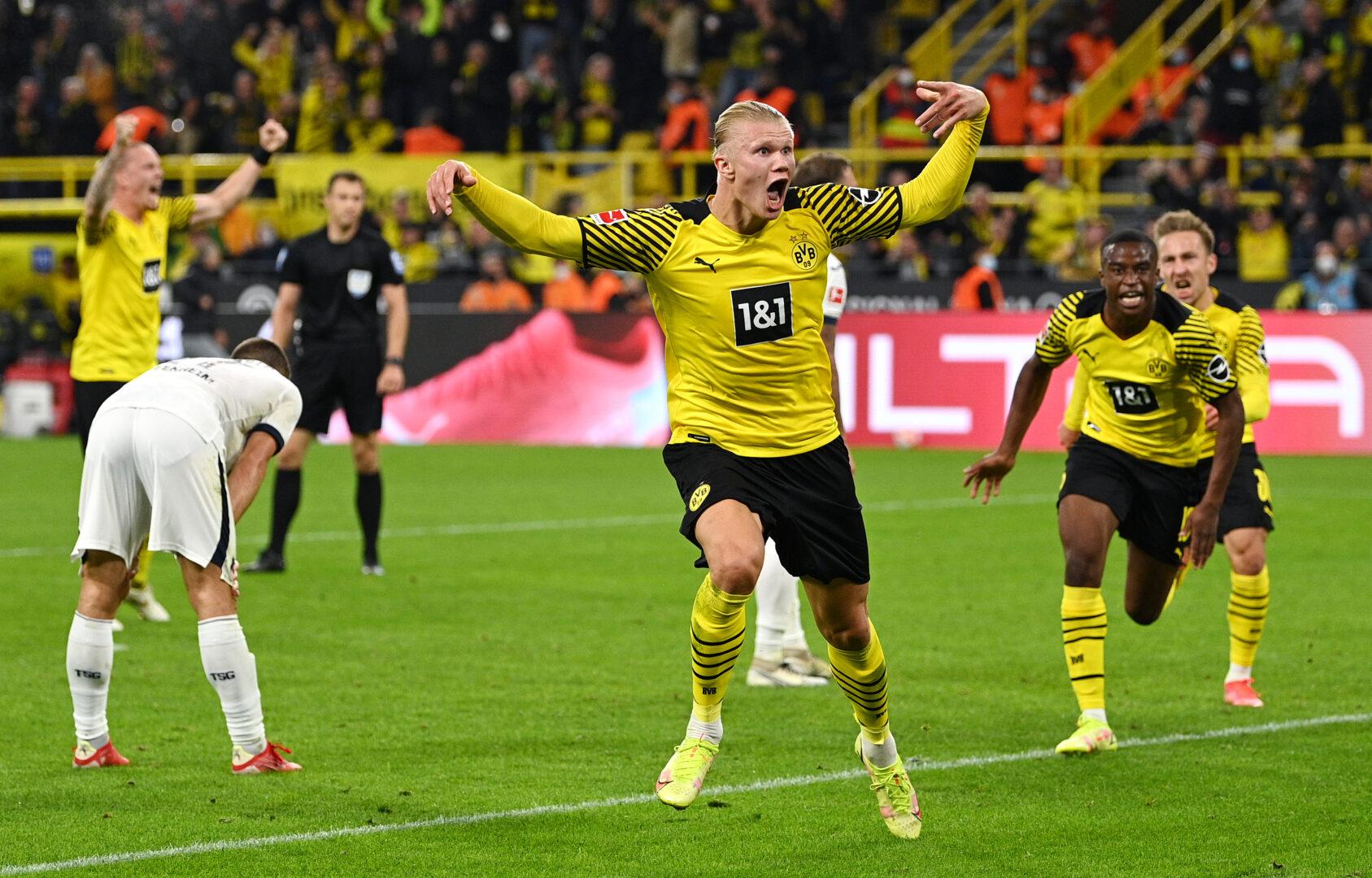 Erling Haaland jubelt gegen Hoffenheim