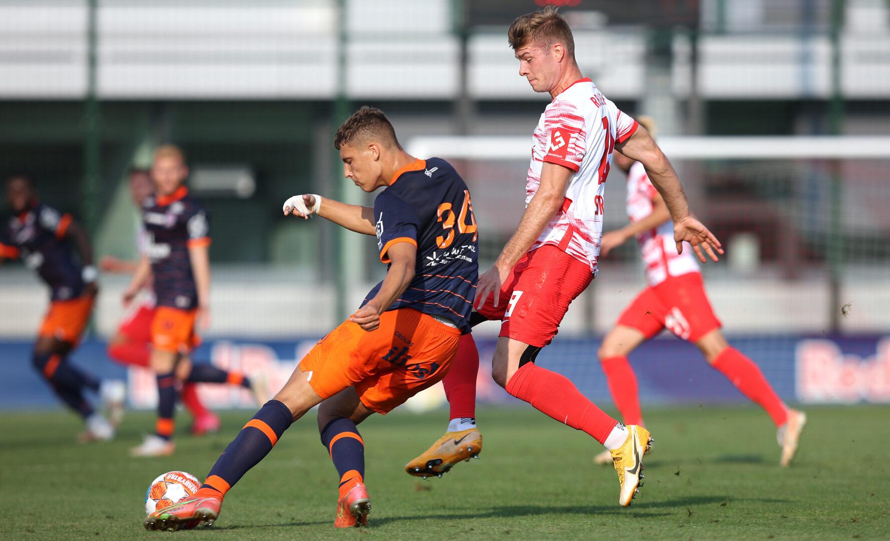 Maxime Esteve hier im Einsatz gegen RB Leipzig