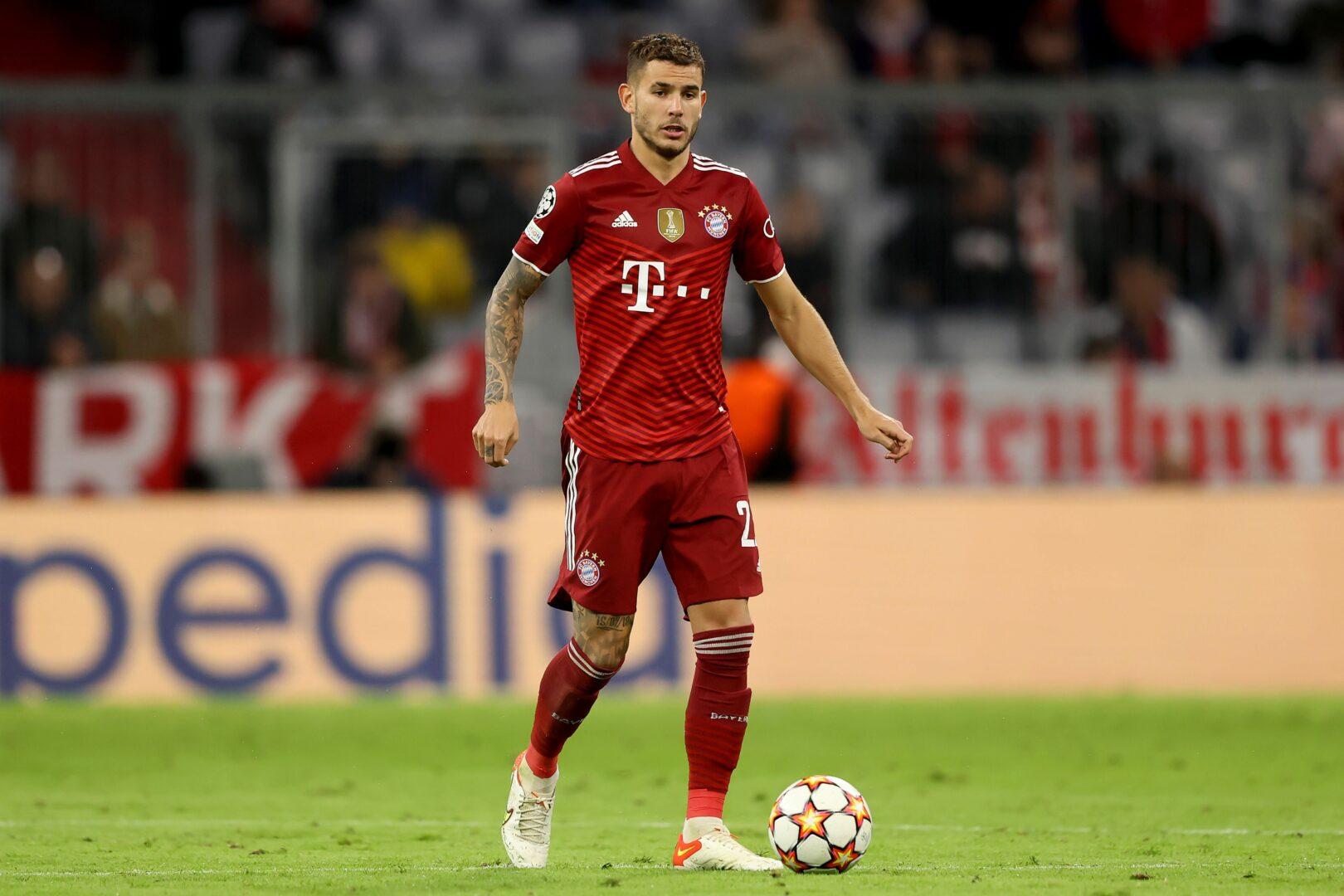 Bayern-Verteidiger Lucas Hernandez hier im Einsatz gegen Dynamo Kiew
