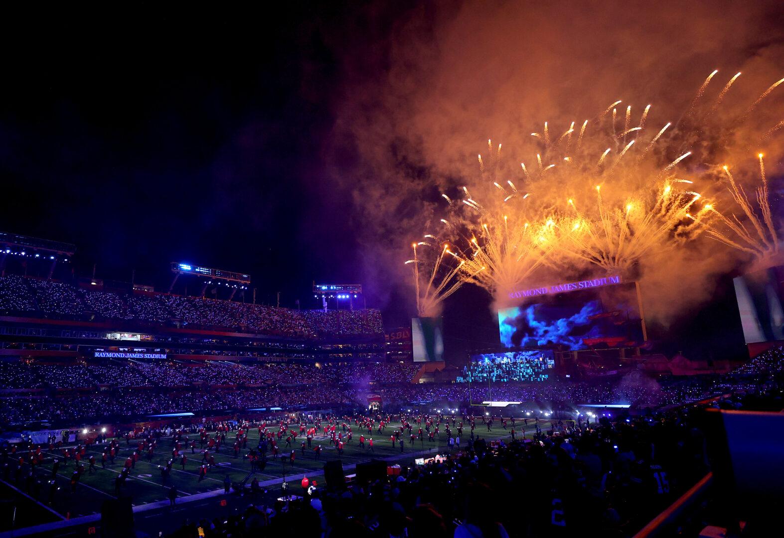 Die Show während der Halbzeitpause des Super Bowl.