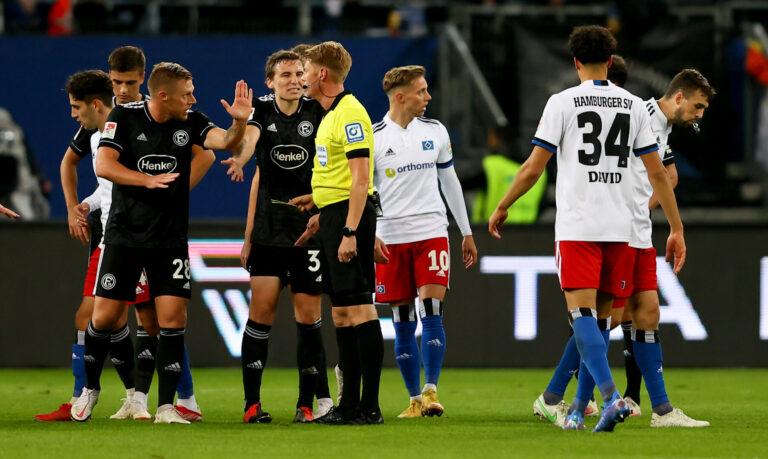 Düsseldorf erkämpft sich in Unterzahl Punkt beim HSV